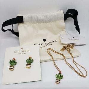 Kate Spade Cactus Necklace and Earrings